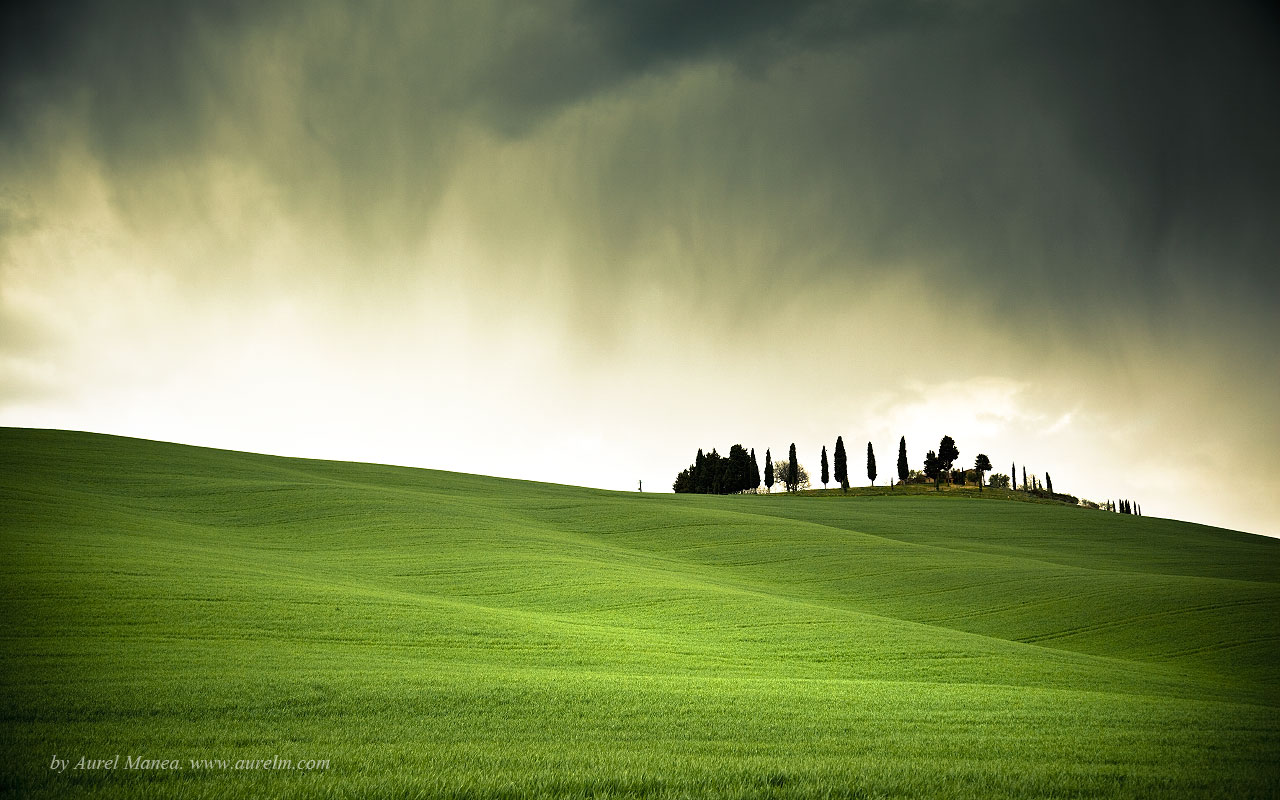 Tuscany Italy Green Hill Photography