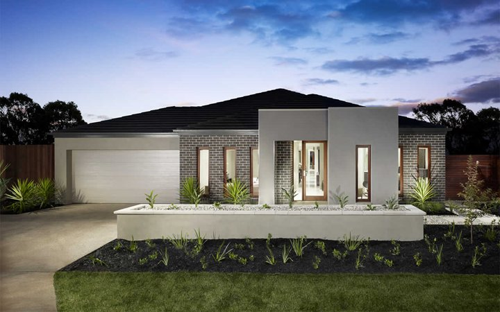 Brick Wall Modern House Facade Design