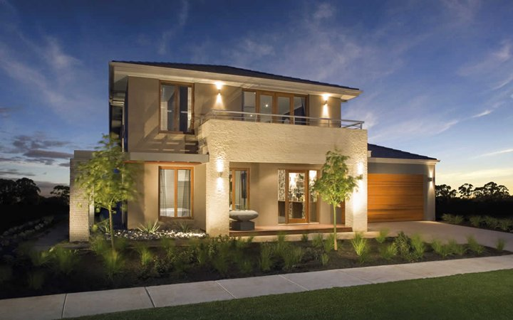 Modern House Facade Design with Simple Small Garden Ideas