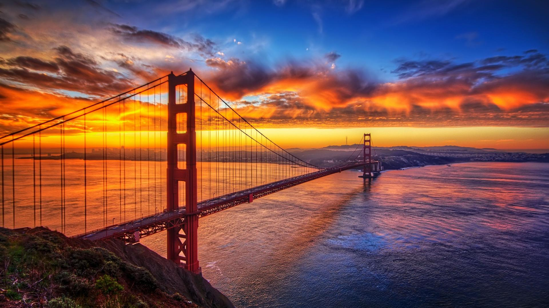Golden Gate Bridge Sunrise Photography