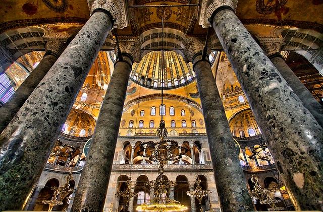 Hagia Sophia Interior Columns