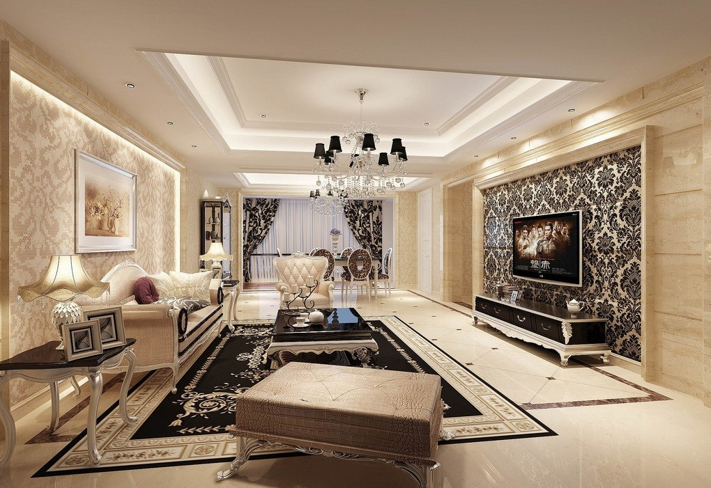 Wallpaper design for living room that can liven up the for Room design 2014