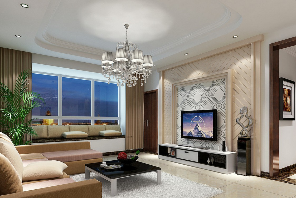 Wallpaper design for living room that can liven up the for Modern home living room design
