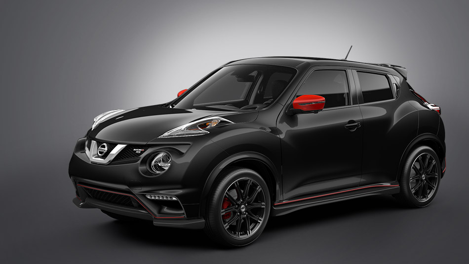 2015 Nissan Juke Super Black with Red Accent