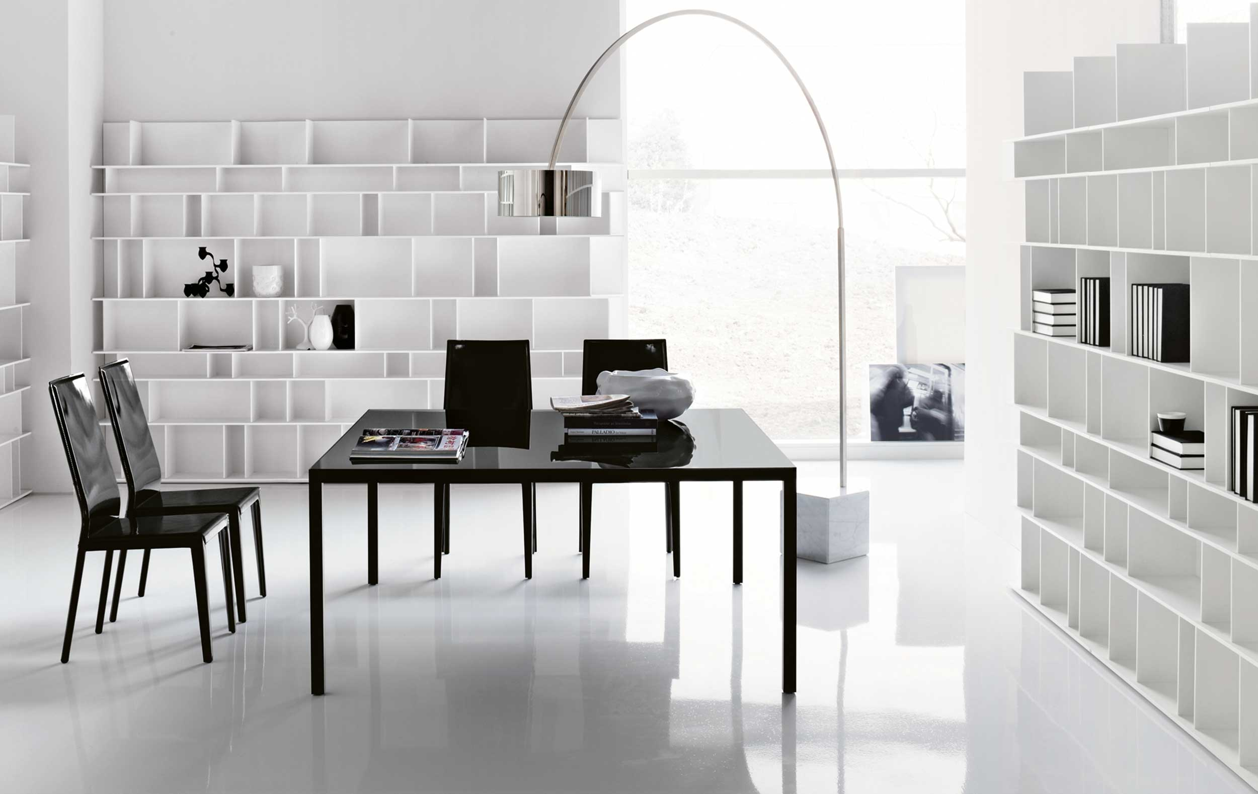 Beautiful White Modern Home Office Design Ideas