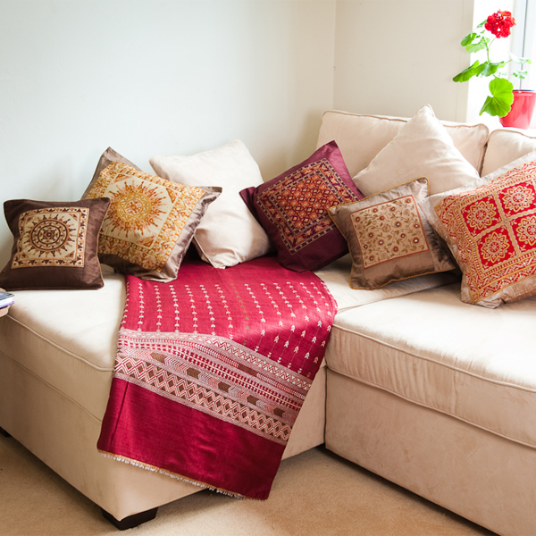 Creative Cushions on Sofa