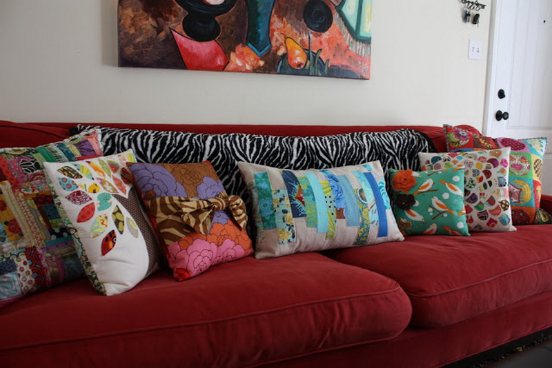 Cushions For Red Sofa