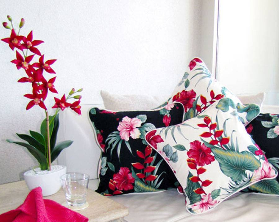 Flower Motif Sofa Cushions