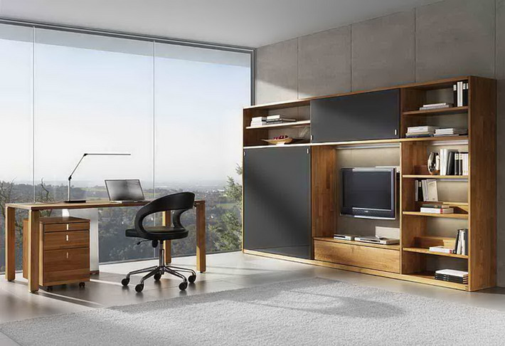 Modern Home Office Design with Scenery View