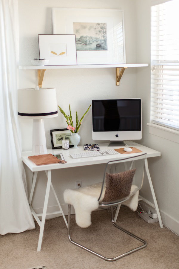Small White Home Office Design Ideas