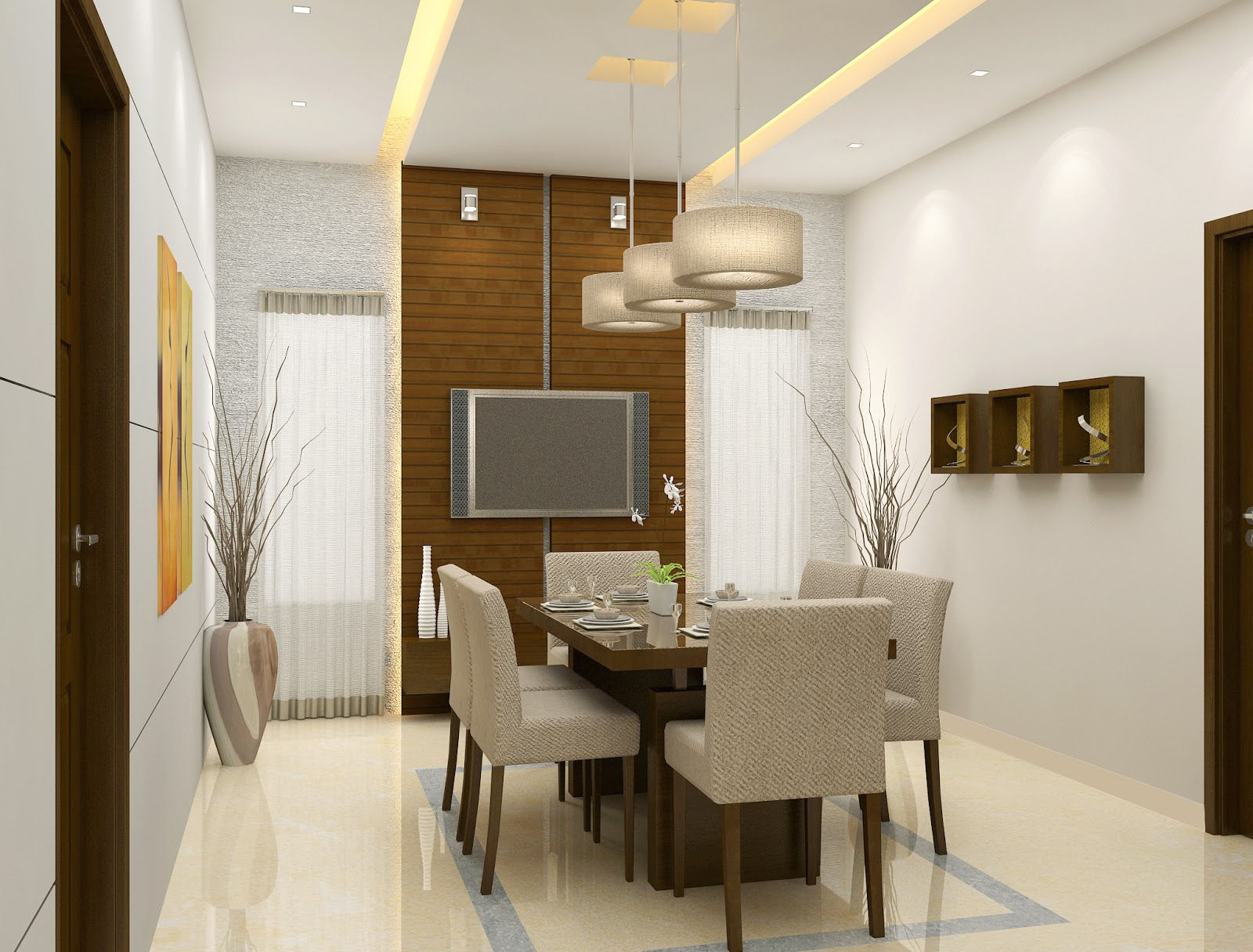 Simple dining room design for Modern dining area ideas