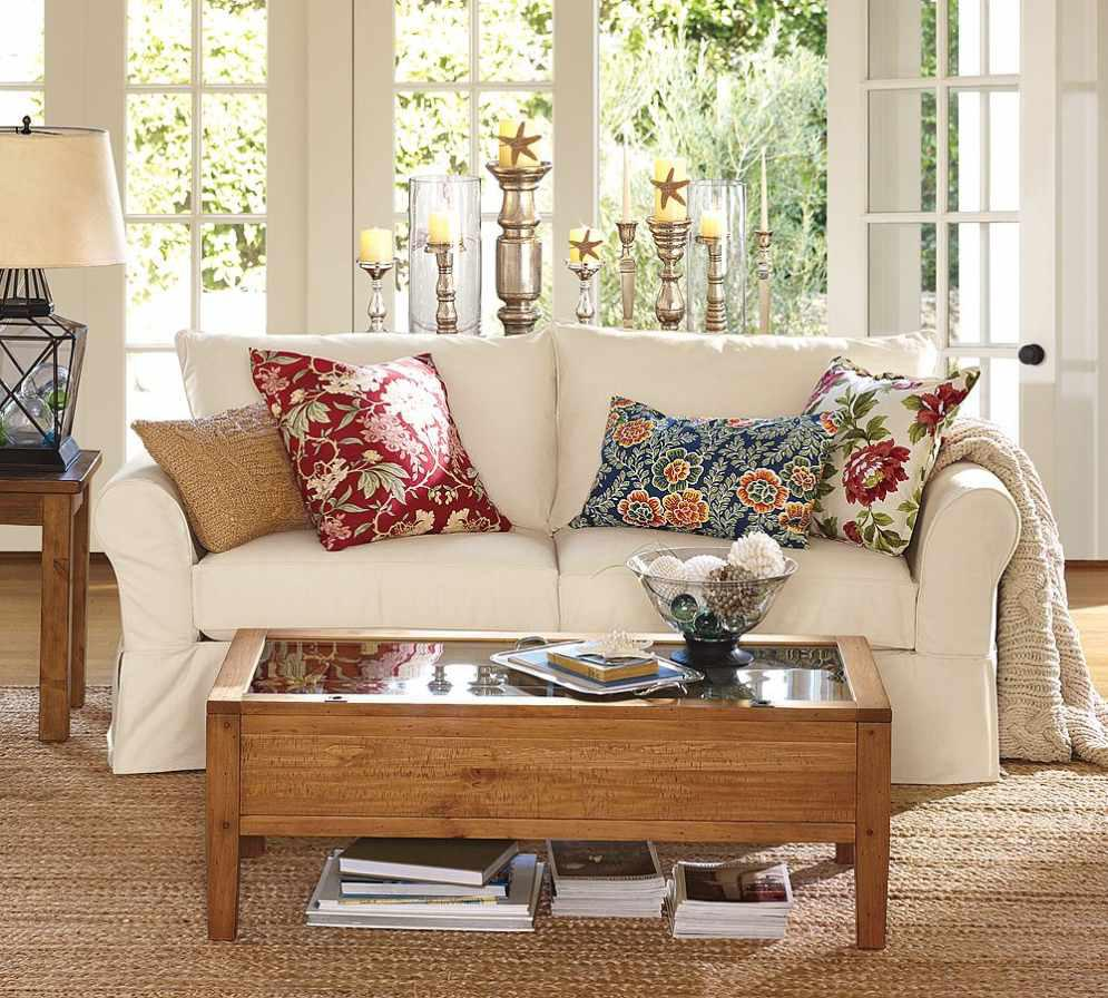 Accent Pillows For Sofa with Floral Motif