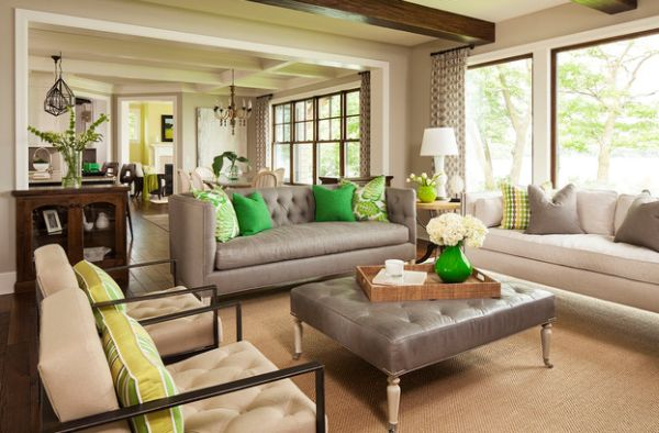 Green Accent Pillows For Sofa