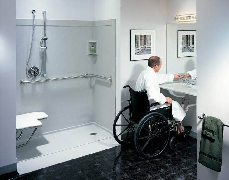 6 tips to design a bathroom for elderly Wheelchair accessible housing