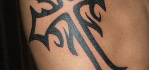 Cross Tattoo Celtic For Men on Ribs