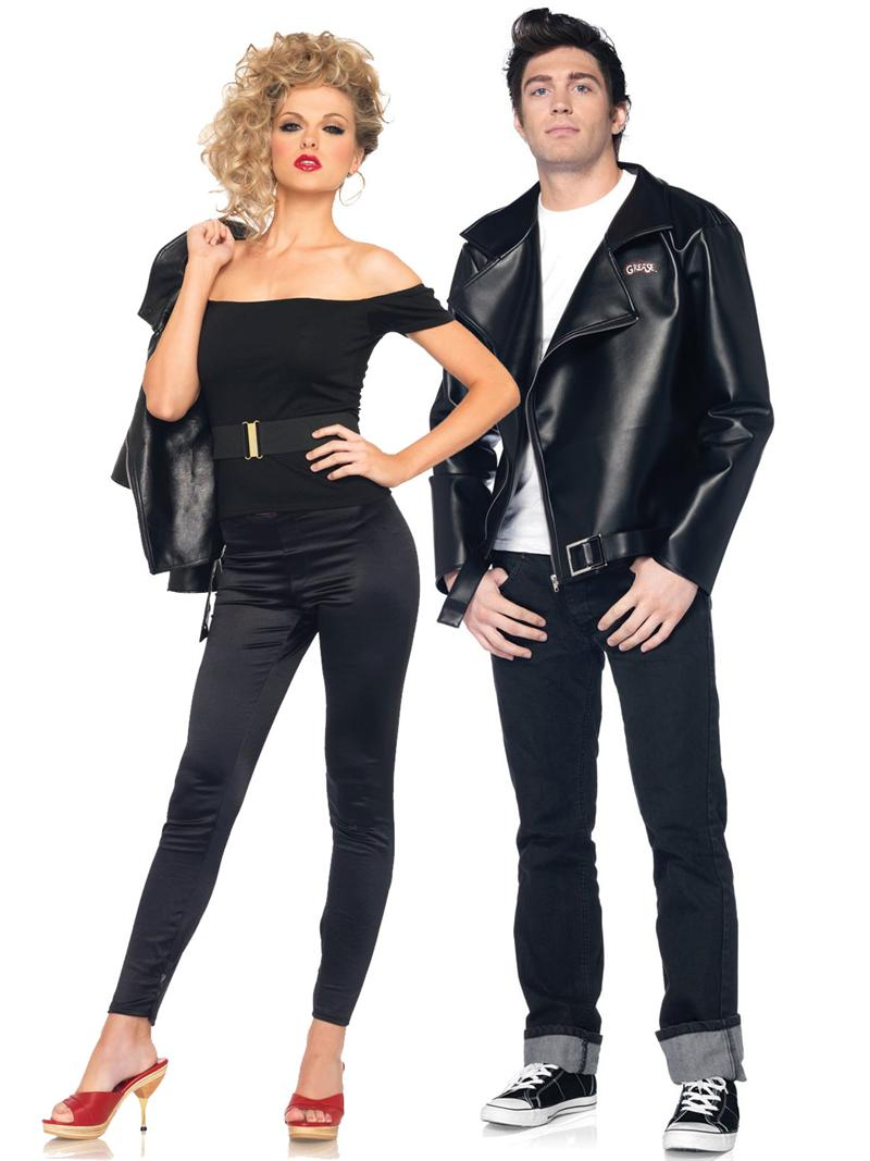 Couple Halloween Costumes Black with Leather Jacket  sc 1 st  InspirationSeek.com : halloween costumes in pairs  - Germanpascual.Com