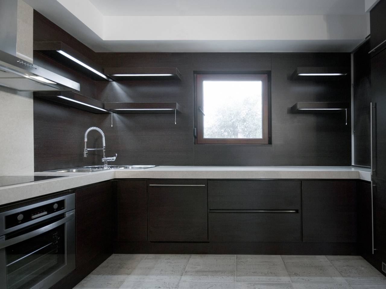 Dark Kitchen Ideas For Small Modern Kitchen