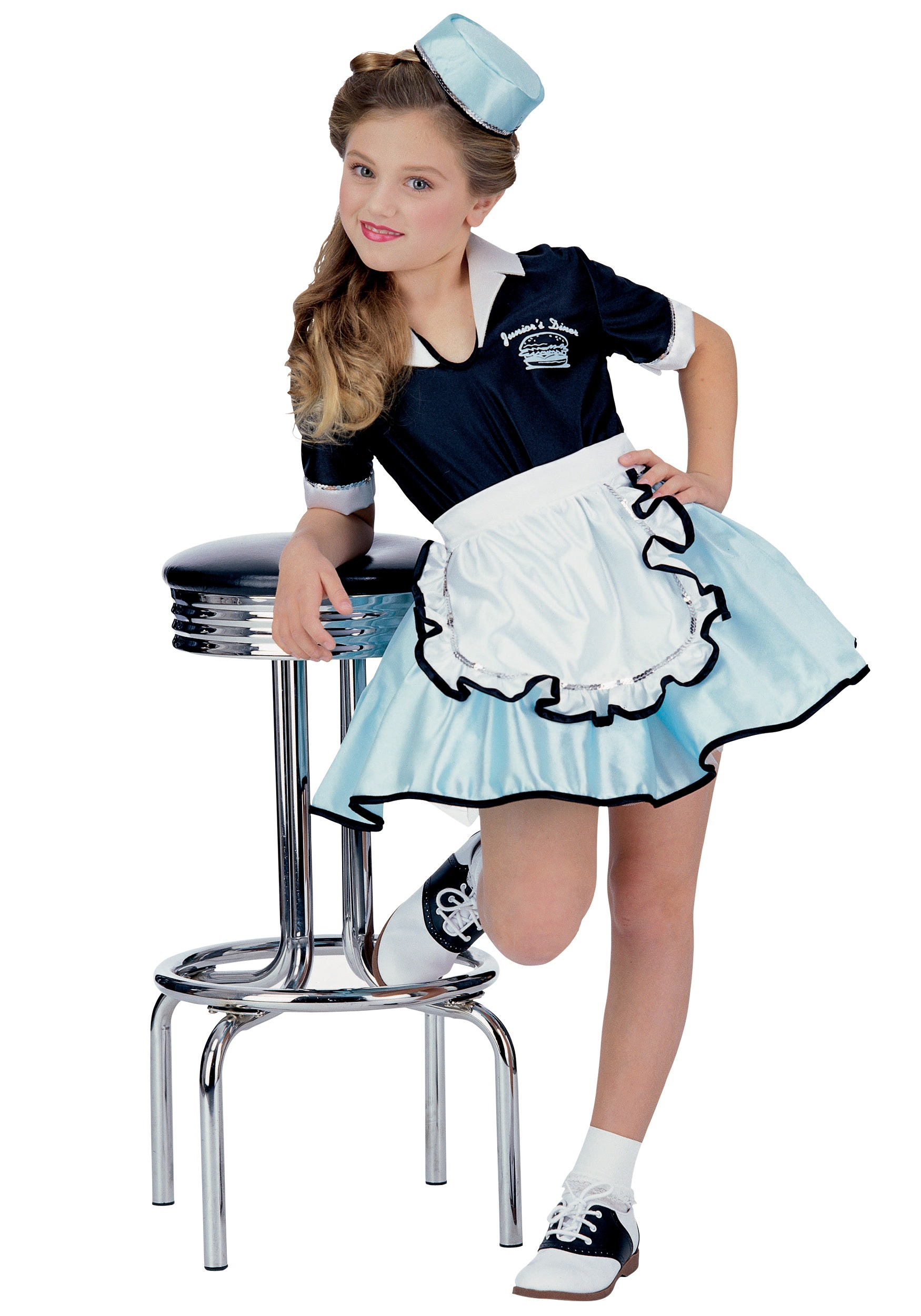 Halloween Costumes For Kids Girls of Car Hop Costume