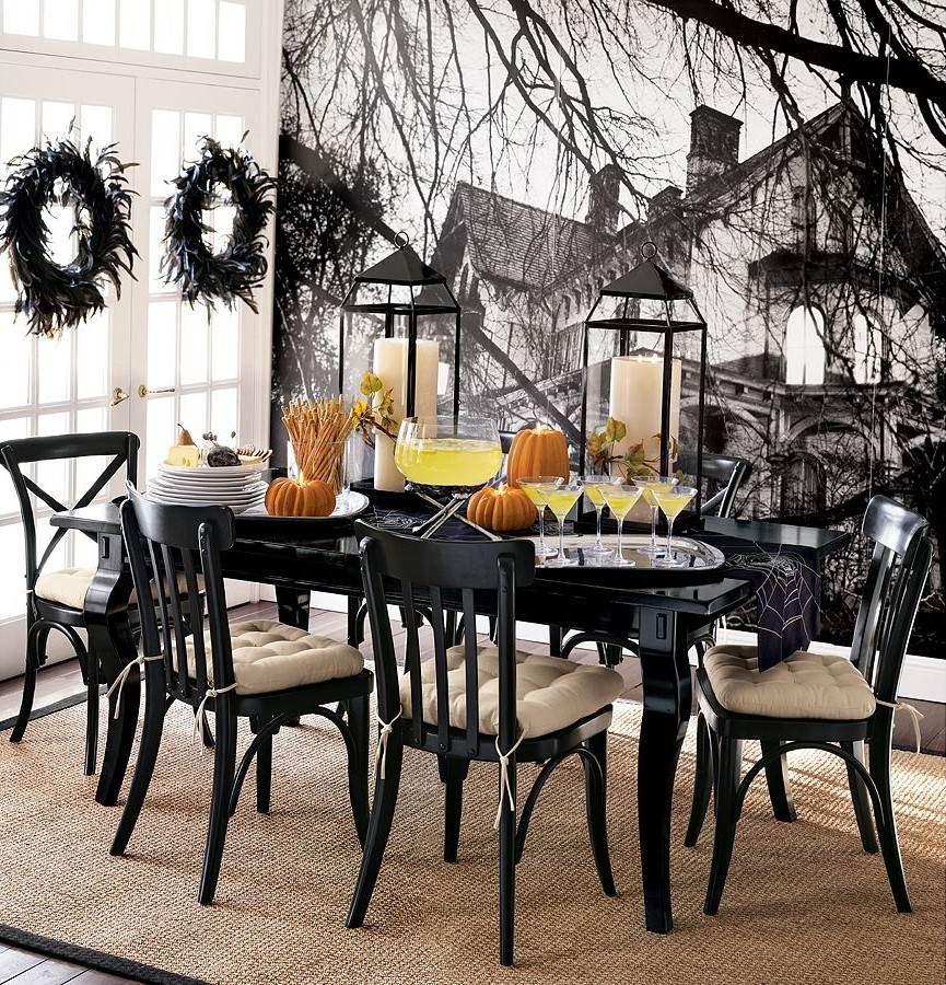 34 halloween home decore ideas for Dining decor ideas