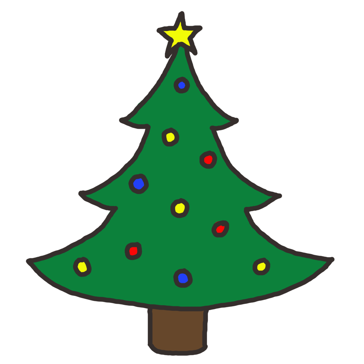 Christmas Tree Clip Art_11