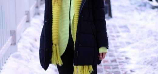 Winter Outfits For Women with Jacket and Scarf