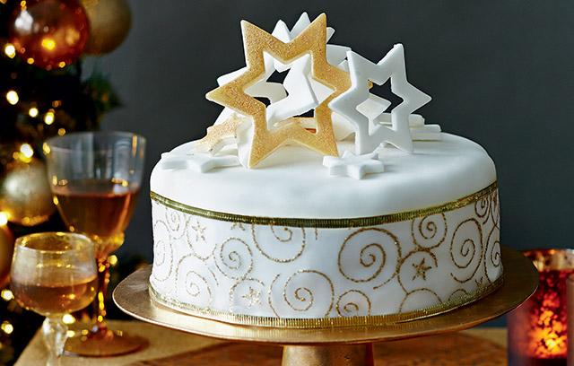 Christmas Cake Ideas with Stars Shape